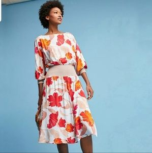 ANTHROPOLOGIE Maeve Gemma Dress Floral Print